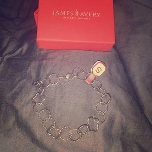 James Avery Quatrefoil Twisted Wire Charm Bracelet